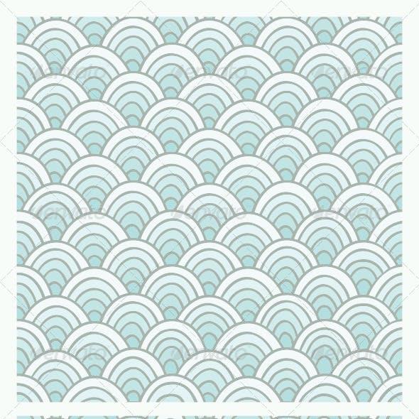 Blue Doodle Pattern