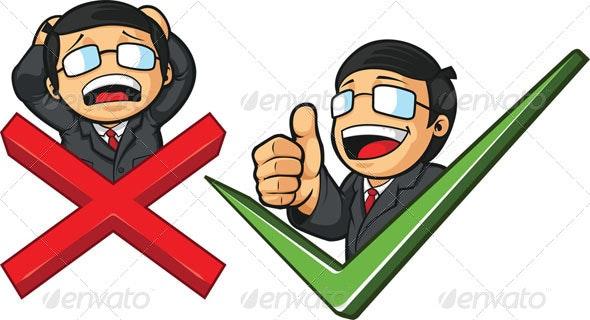 Businessman Success and Failure - Concepts Business