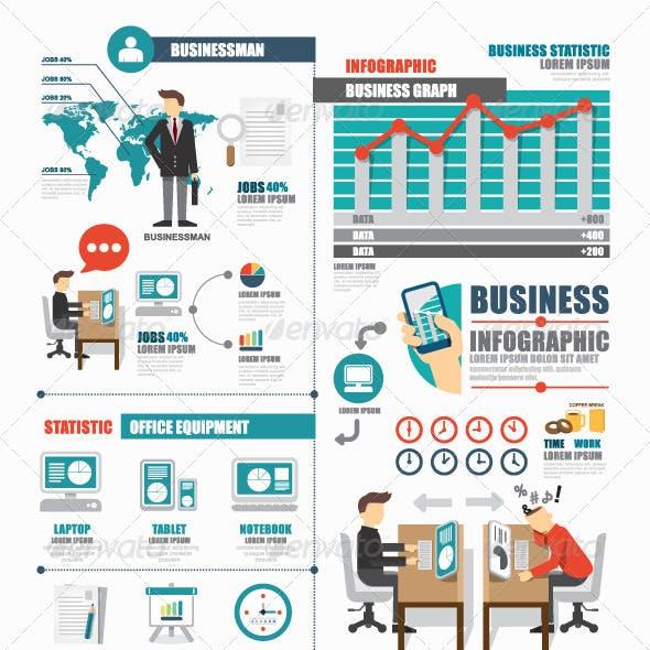 Infographic Business World Job Template Design