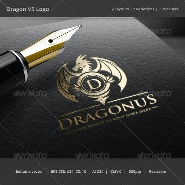 Dragon Letter V5 Logo