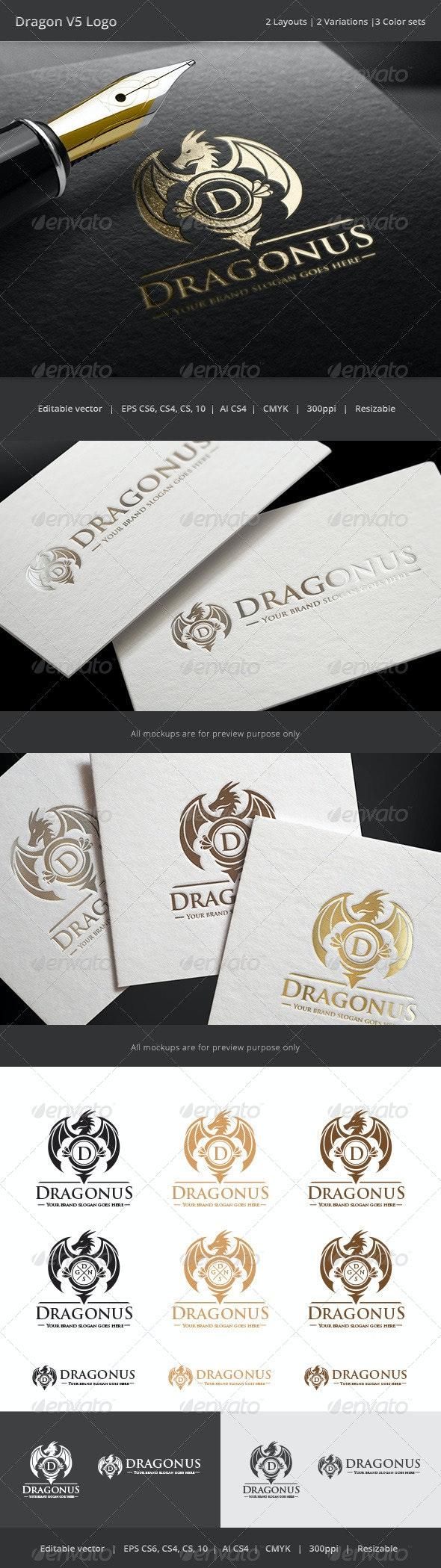 Dragon Letter V5 Logo - Crests Logo Templates