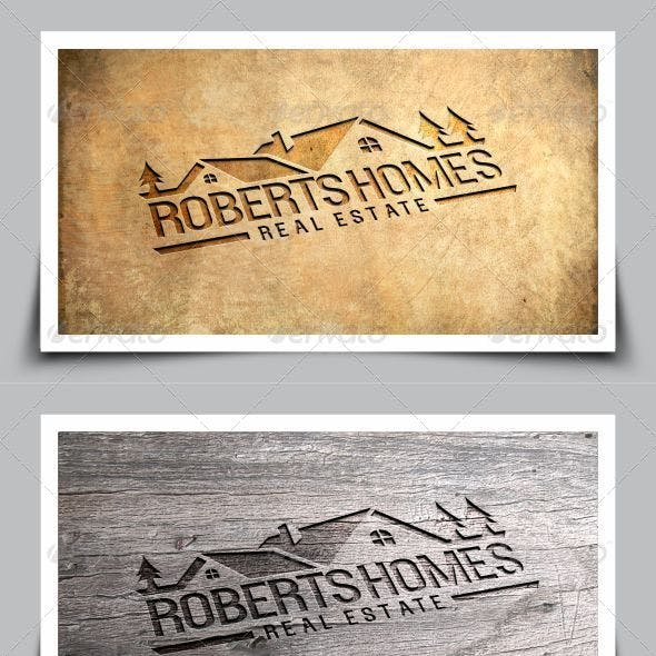 Roberts Homes Real Estate Logo Template