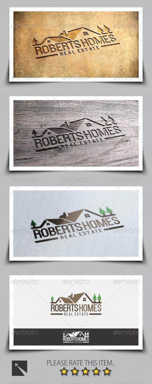 Roberts Homes Real Estate Logo Template - Buildings Logo Templates