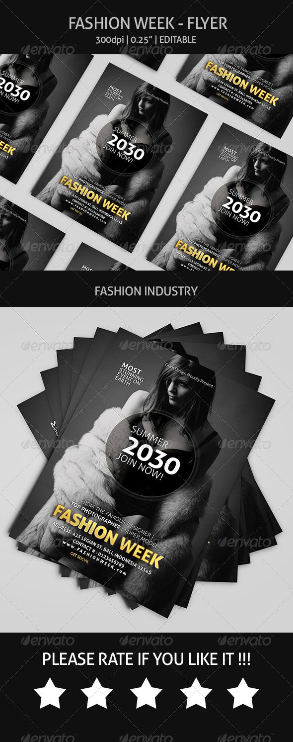 Fashion Week - Flyer - Events Flyers