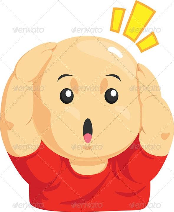 Funny Bald Kid - Health/Medicine Conceptual