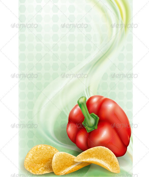 Potato Chips and Sweet Paprika - Food Objects