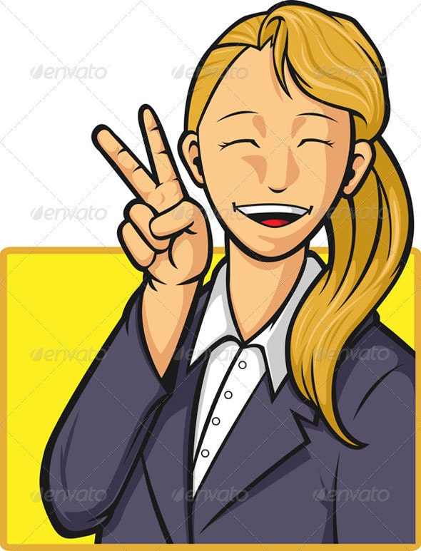 Happy Office Worker - Concepts Business