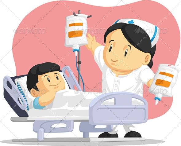 Nurse Helping Child Patient - Health/Medicine Conceptual