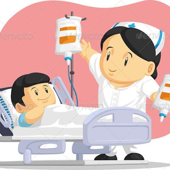 Nurse Helping Child Patient