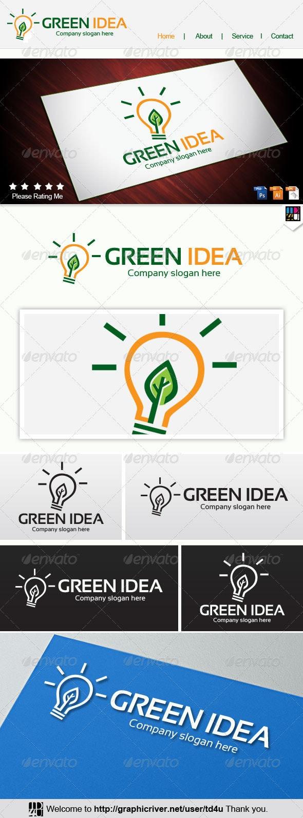 Green Idea - Nature Logo Templates