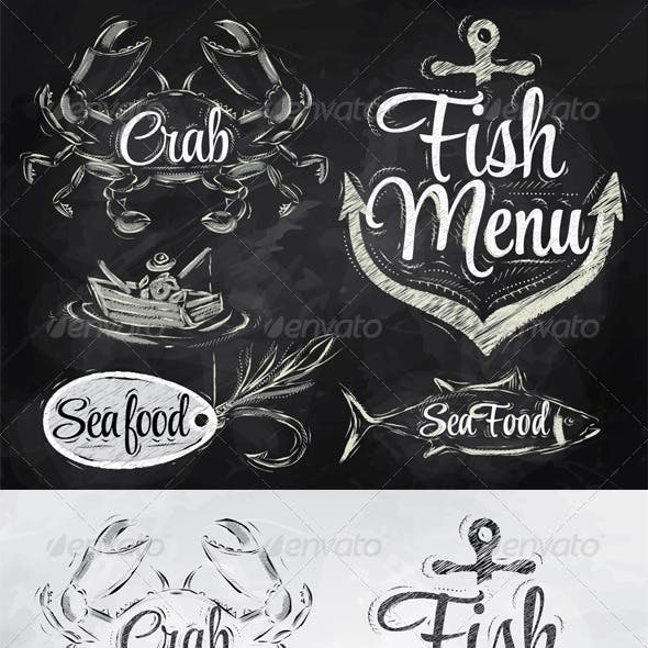 Collection of Seafood and Fish Menu