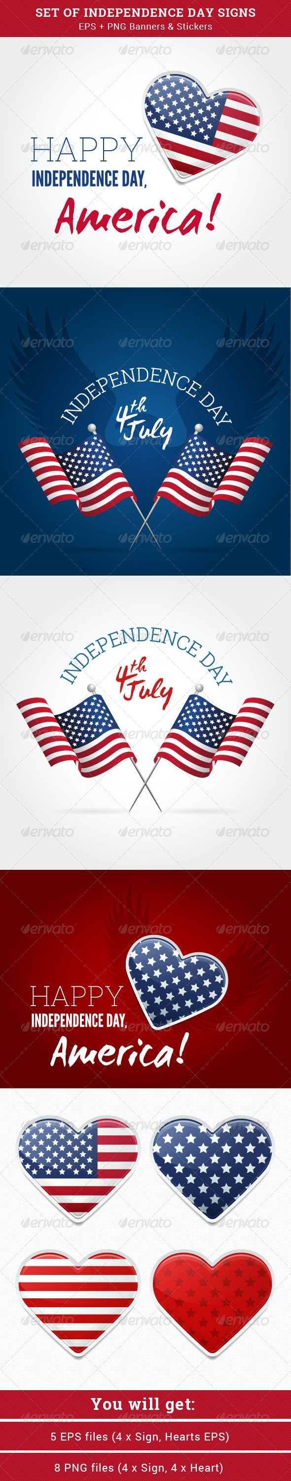 4th July Independence Day - Seasons/Holidays Conceptual
