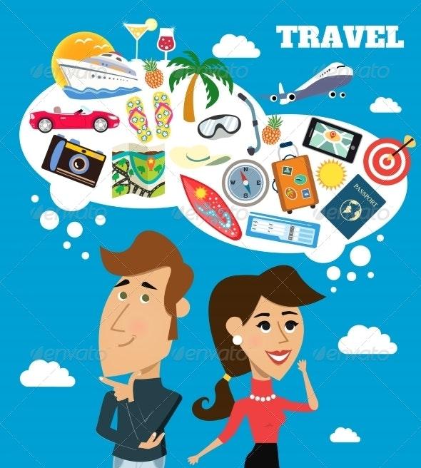 Travel dreams scene - Travel Conceptual