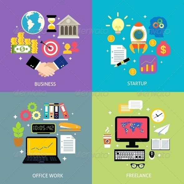 Business Concept - Industries Business