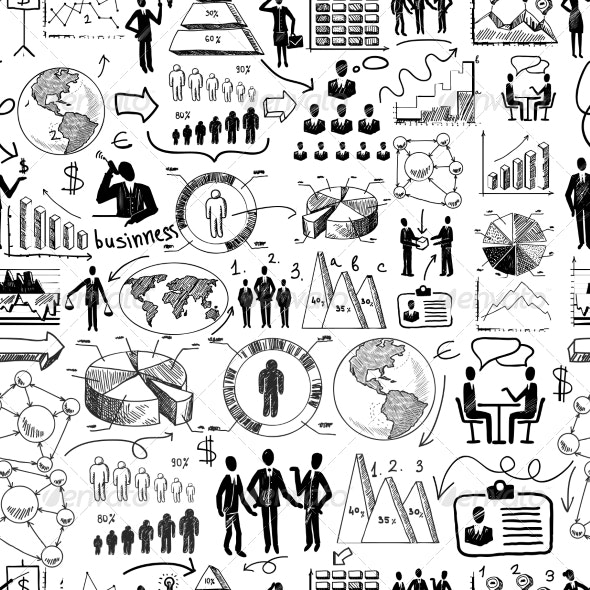 Sketch Business Pattern - Backgrounds Business