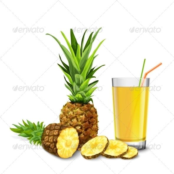 Pineapple Juice glass - Food Objects