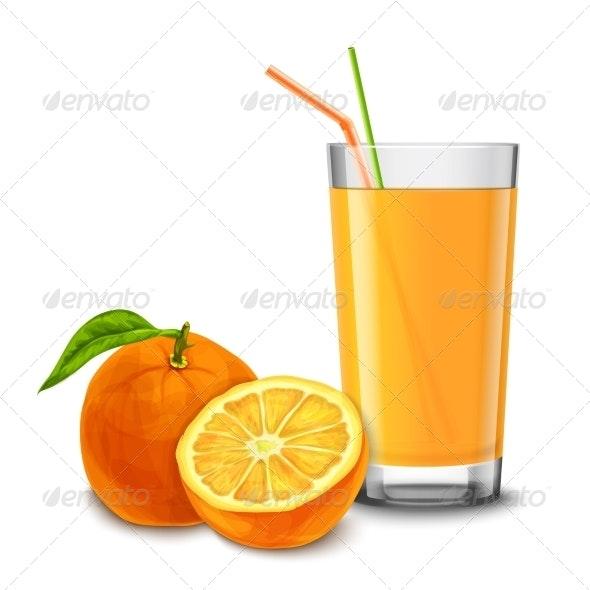 Orange Juice Glass - Food Objects