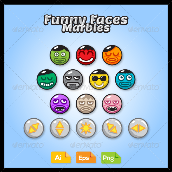 Game Marble Faces - People Characters