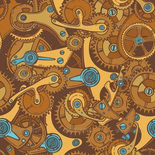 Engineers Sketch Seamless Pattern Color - Backgrounds Decorative