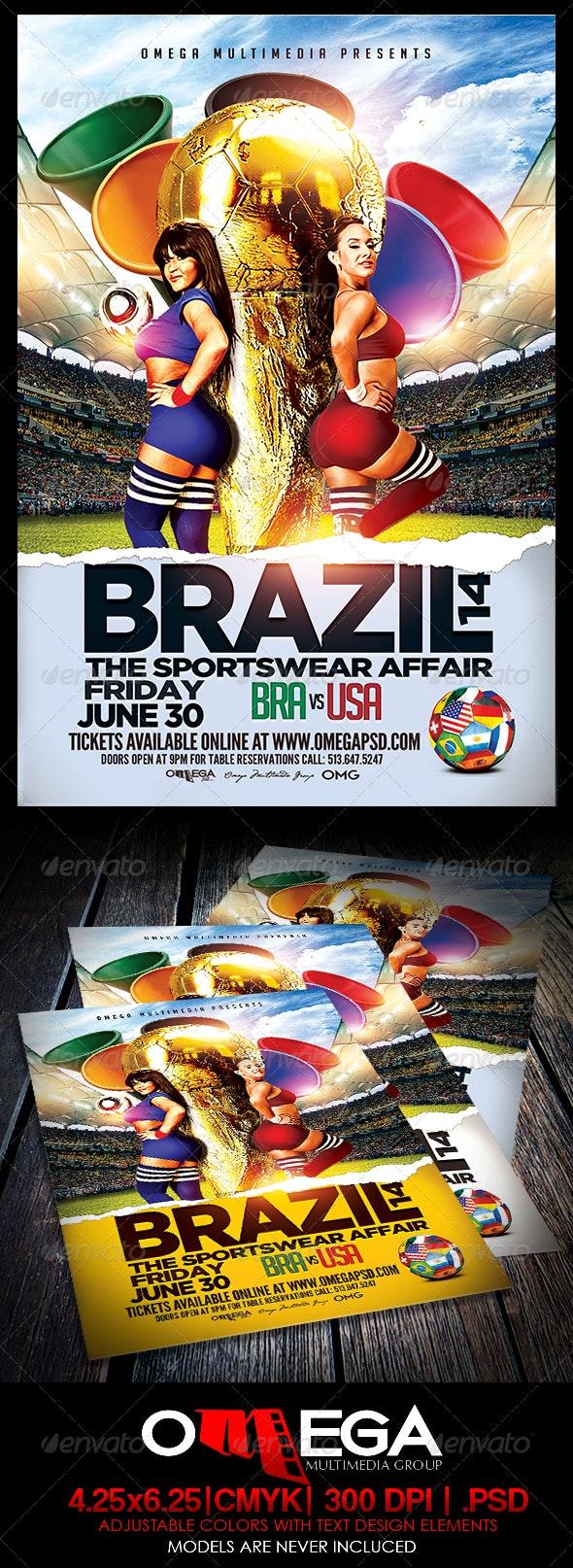 Brazil 14 - Events Flyers