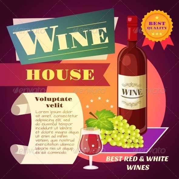 Wine House Poster - Food Objects