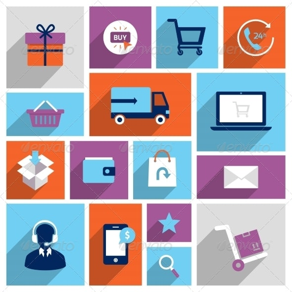 Shopping E-commerce Icons - Retail Commercial / Shopping