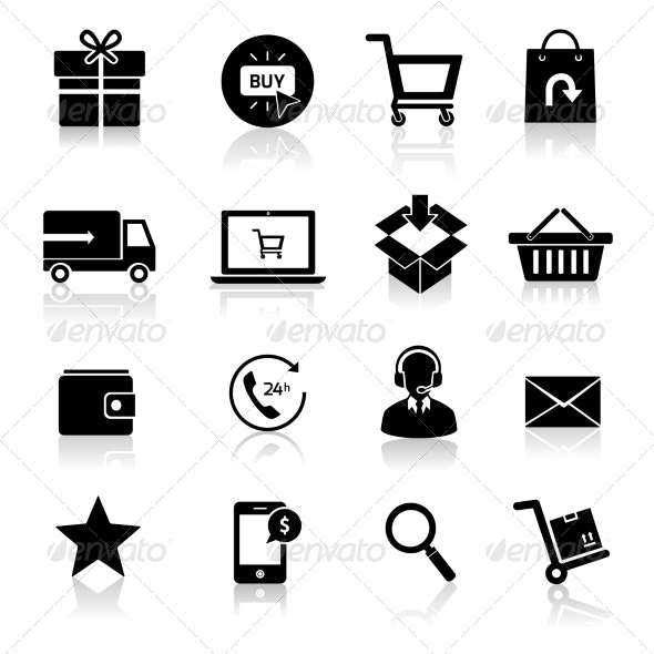 Shopping E-commerce Icons - Technology Icons