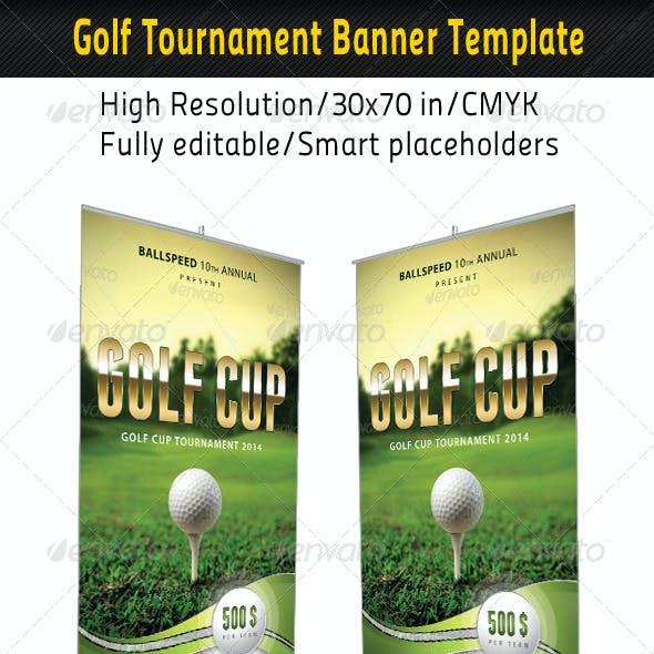 Golf Event Banner Template 01