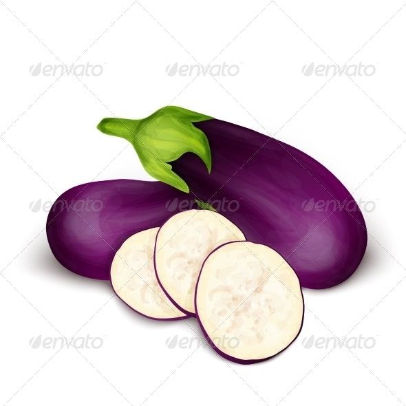 Eggplant Aubergine Isolated - Food Objects