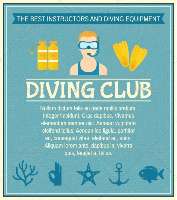 Diving Club Poster - Sports/Activity Conceptual