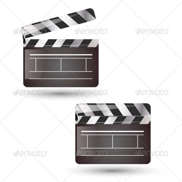 Clapper Board Isolated - Miscellaneous Vectors
