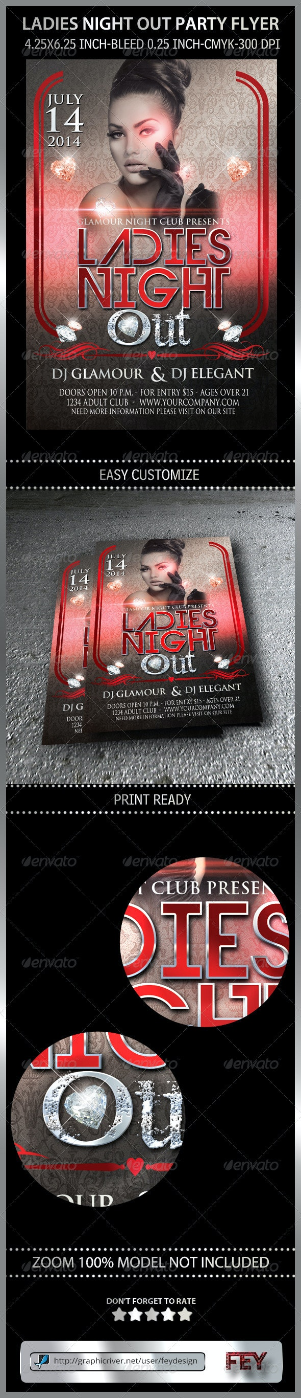 Ladies Night Out Party Flyer - Clubs & Parties Events