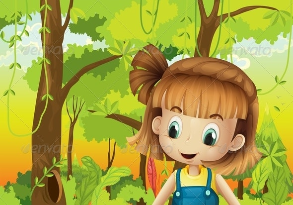 Girl in the Forest - People Characters