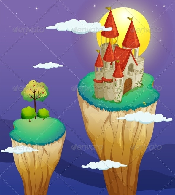 A Castle at the Topmost Part of a Landform - Buildings Objects
