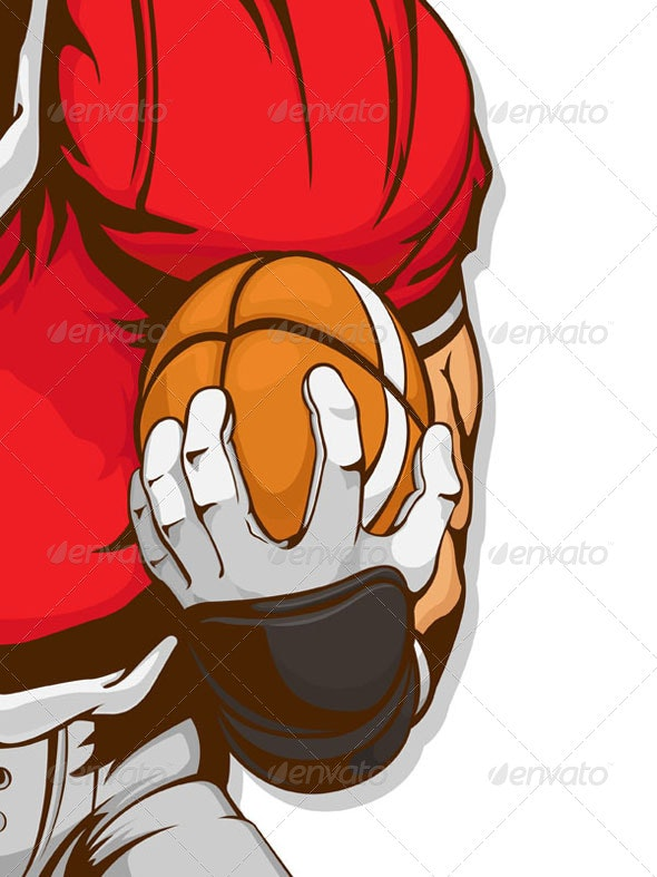 American Football Player Detail - Sports/Activity Conceptual