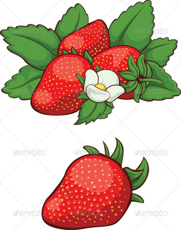 Fresh Strawberry - Food Objects