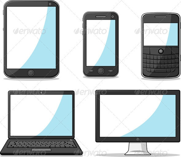 Smart Phone, Tablet, Laptop, and Computer - Communications Technology