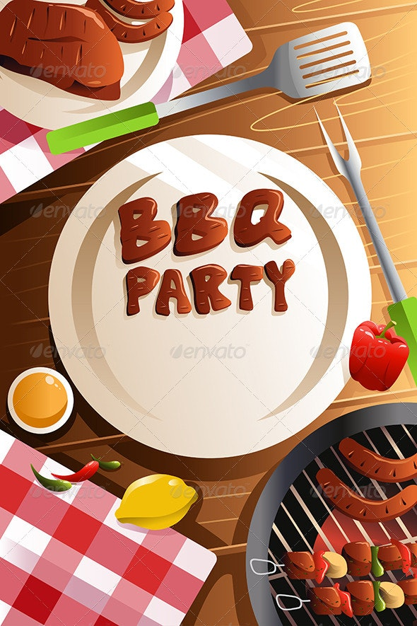 Barbeque Party Poster - Backgrounds Decorative