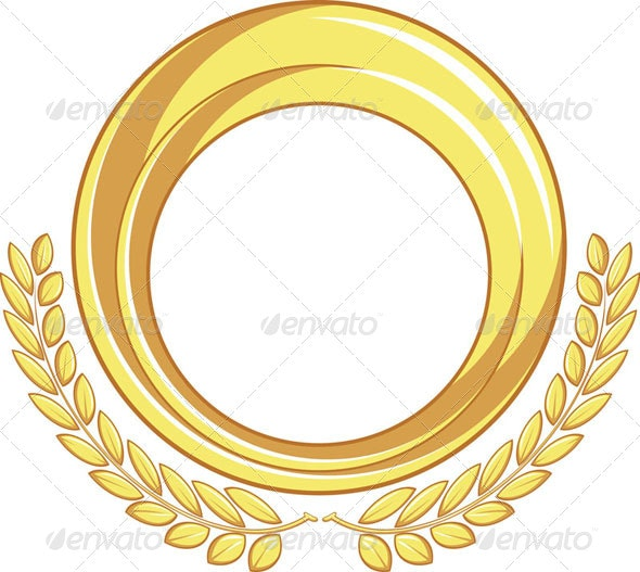 Golden Badge Ornament - Decorative Symbols Decorative