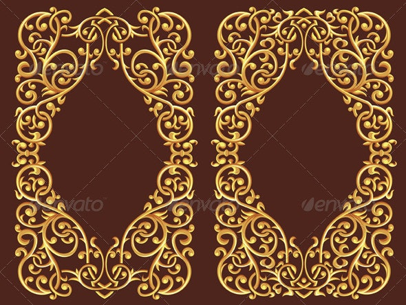 Golden Floral Ornament - Flourishes / Swirls Decorative