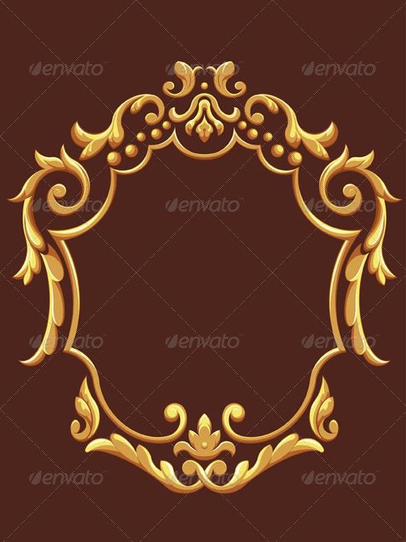 Golden Royal Ornament - Flourishes / Swirls Decorative