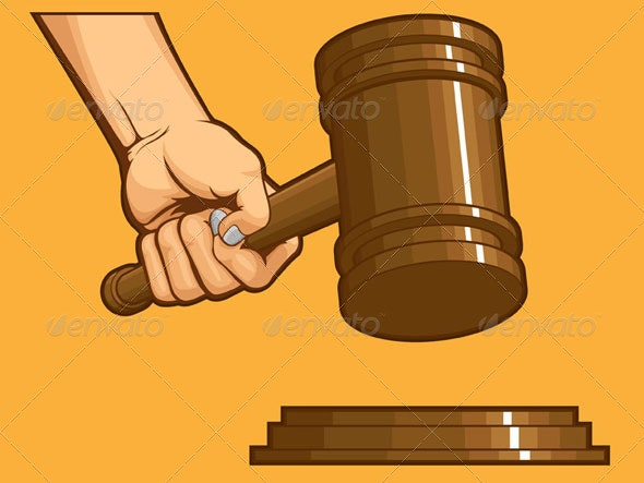 Hand Knocking Gavel - Miscellaneous Conceptual