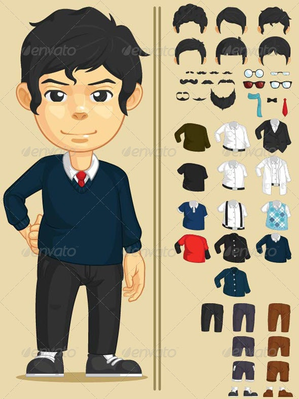 Handsome Man Customizable Character - People Characters