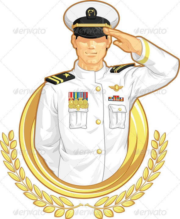 Military Officer Salute - People Characters
