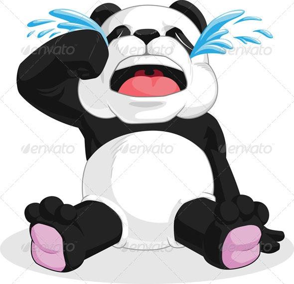 Panda Crying - Animals Characters