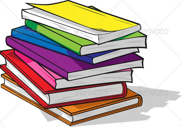 Pile of Colorful Books - Man-made Objects Objects