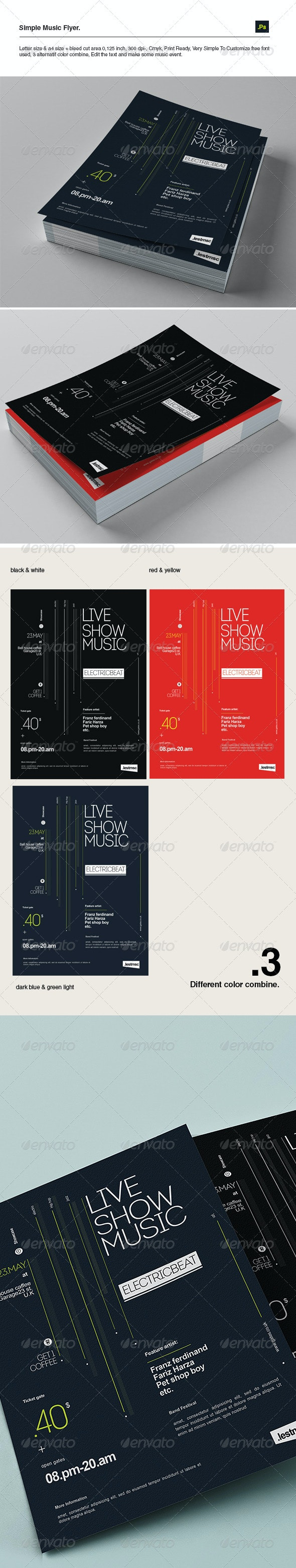 Simple Music Flyer - Concerts Events