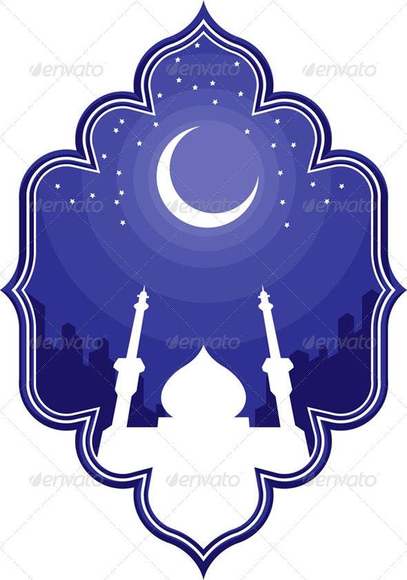 Ramadan & Eid Mubarak Greeting - Religion Conceptual