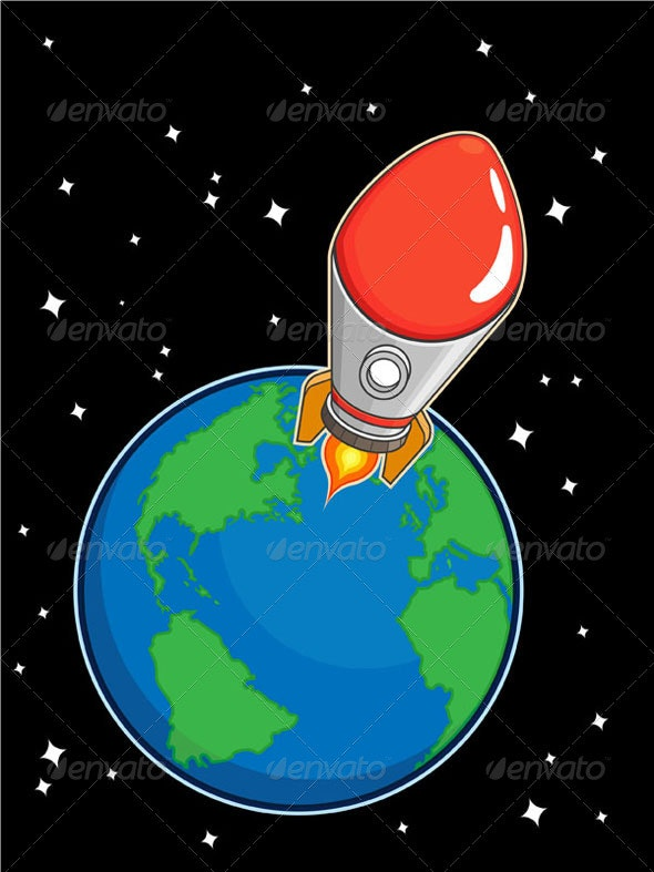 Rocket from Earth - Man-made Objects Objects