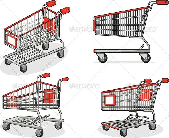 Shopping Cart Set - Retail Commercial / Shopping